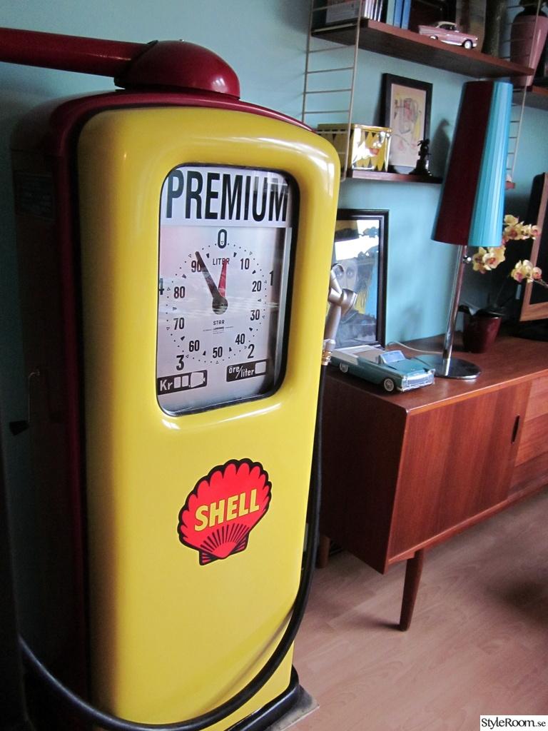 50-tal,retro,nostalgi,bensinpump,ljungmans star 76,gul,röd,teak ...