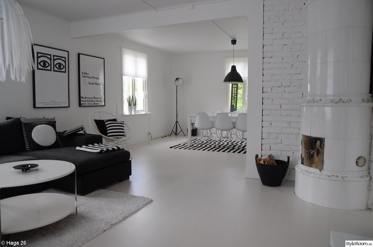 Kakelugn Svart ~ Interiörinspiration och idéer för hemdesign : svart vitt golv : Inredning