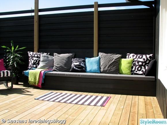 Uteplats uteplats entre : Bild 2 med altanräcke i rostfritt och rostfria vajrar | fence ...