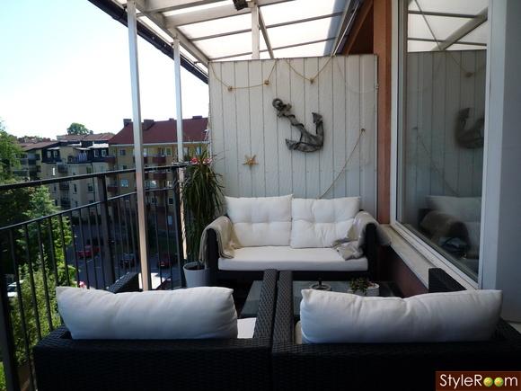 liten hammock balkong