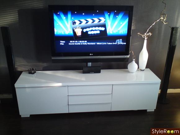 Ikea Tv Bänk,högblankt Vit