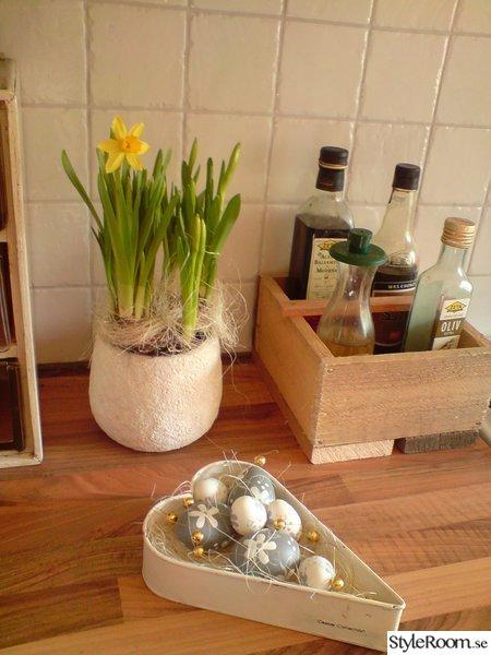 olja och vinäger,påskpynt,blommor