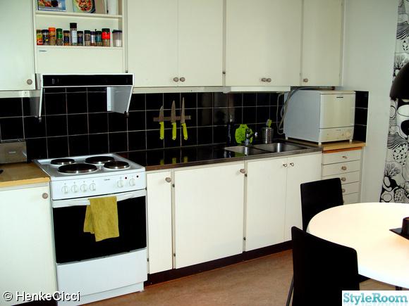 Vitt Kok Svart Kakel Bilder : svart kakel kok  knivar mora kok svart vitt gront kakel